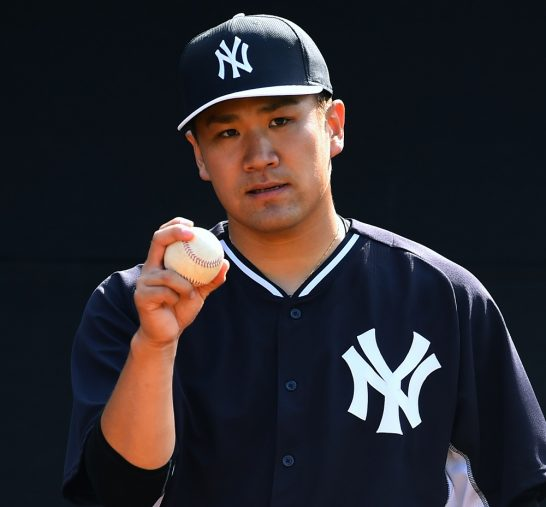 TAMPA, FL - MARCH 02:  Masahiro Tanaka #19 of the New York Yankees participates in the New York Yankees Spring Training at George M. Steinbrenner Field on March 2, 2015 in Tampa, Florida.  (Photo by Masterpress/Getty Images)